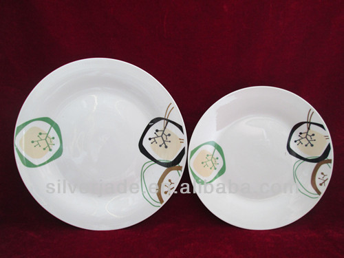 big and small durable ceramic dinner plate set