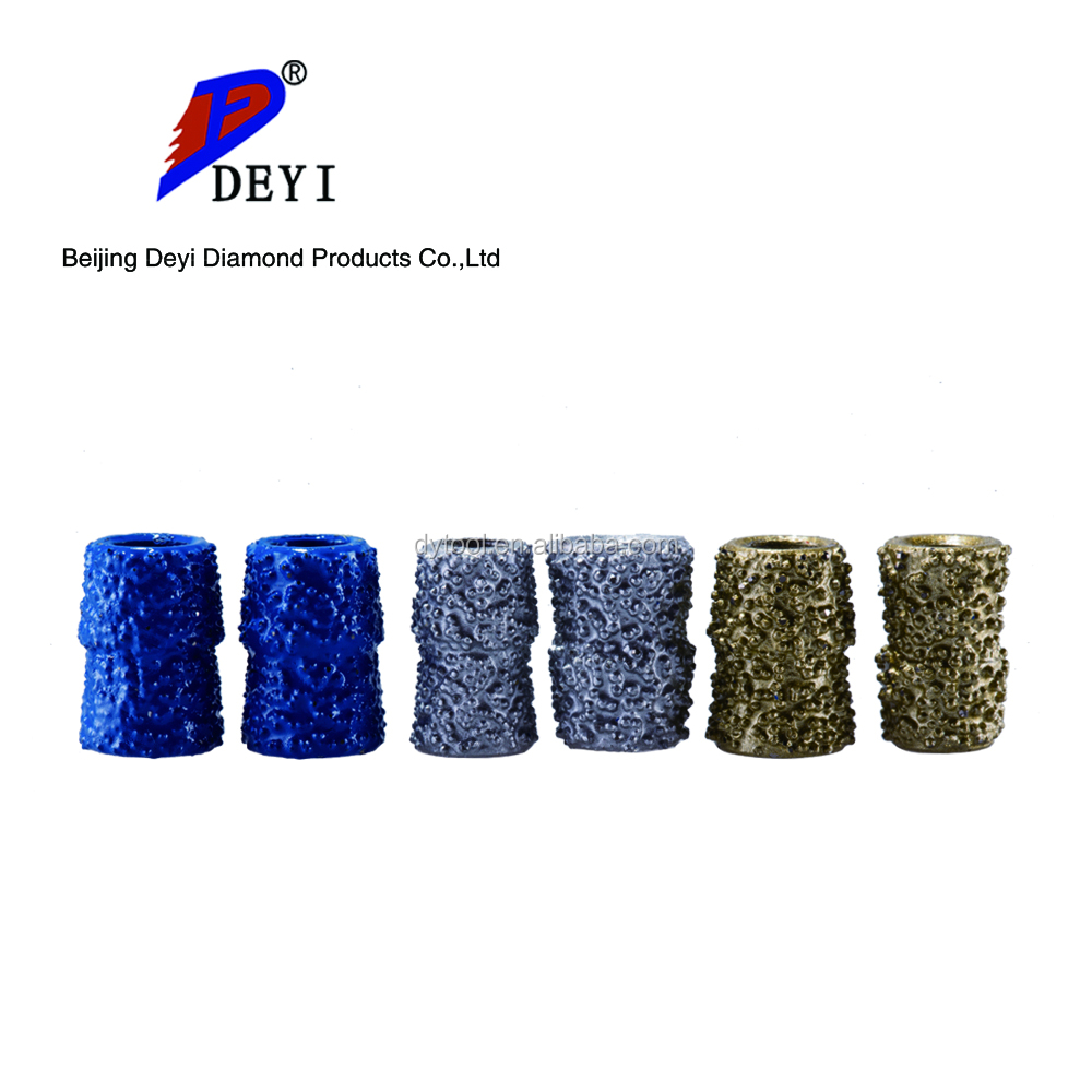 2017 newest lowest price Deyi brand Diamond Wire Saw Beads Buttons 10mm for dry cutting Granite and Marble concrete stone tile