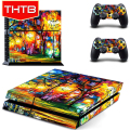 Beautiful Color Art Painting Vinyl Skin Sticker Cover For PS4