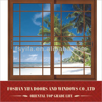 Aluminium sliding window with mosquito screen windows with mosquito screen