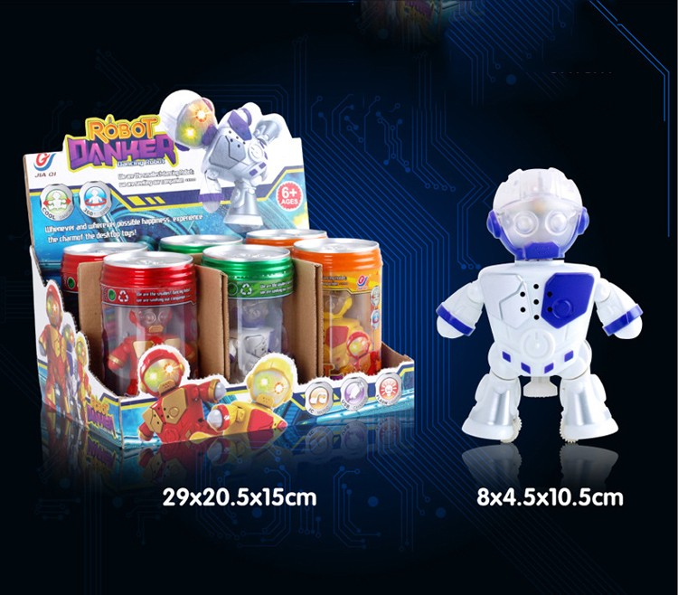 TT541 wholesale mini battery operated toy robot,coke can gymnastics robots