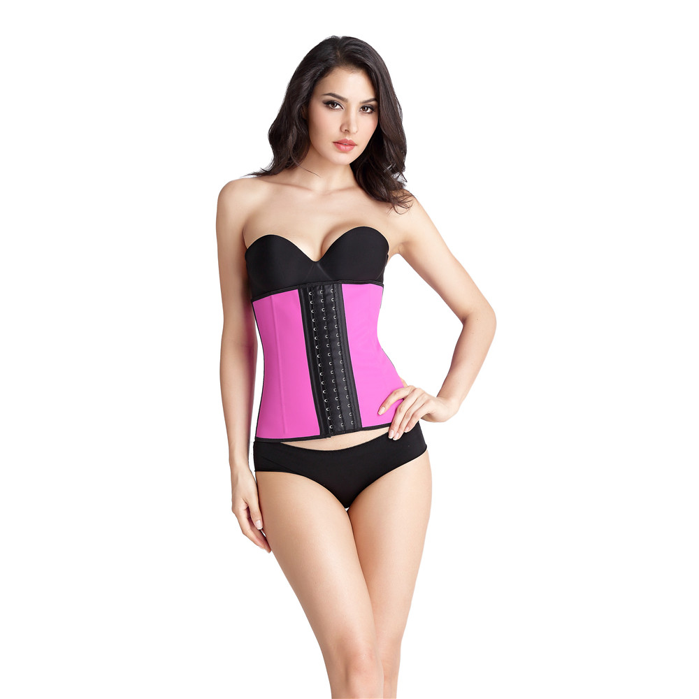 Plus size nine steel bone latex cheap waist training corsets for Ladies