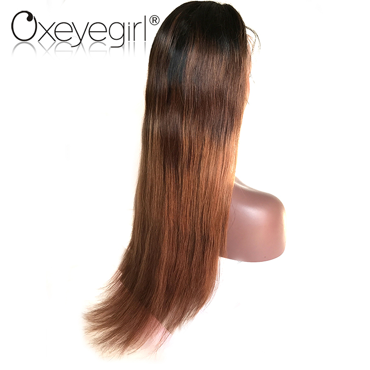 high feedback top quality most popular fashion style two tone human hair wig