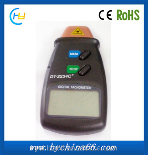 Portable Non-contact Digital induction Laser Photo rpm Universal Tachometer with Data Storage Function