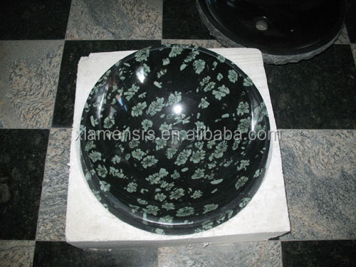 natural stones basin and sinks blue pearl Dark Emperador