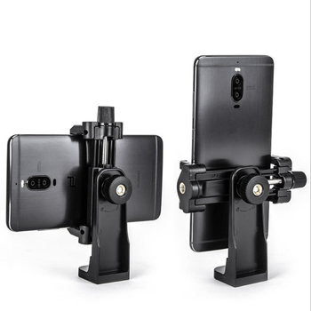 Horizontal and vertical rotating camera phone clip tripod PTZ transfer self-timer live broadcast selfie stick bracket clip