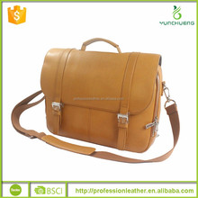 Camel Leather Handbags with Outside Pockets, Super Quality Bag