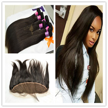Bleached knots frontal lace closure with bundles, best seller malaysian hair raw virgin hair unprocessed