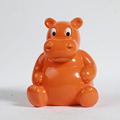 high quality brown cartoon hippo plastic piggy bank/promotional gift money can saving box customized/PVC coin bank supplier