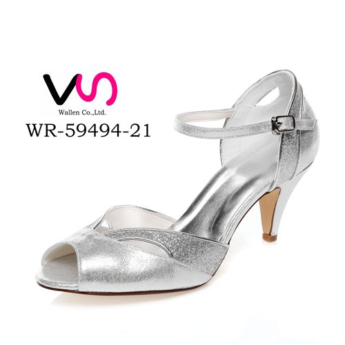 glitter & metallic upper new design wedding dress shoes WR-59494-22 made in china bridal shoes