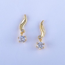 2017 Most Popular Wholesale Dubai Gold Jewelry Earring