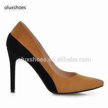 OLUX1017 Kid suede high heel pump shoes