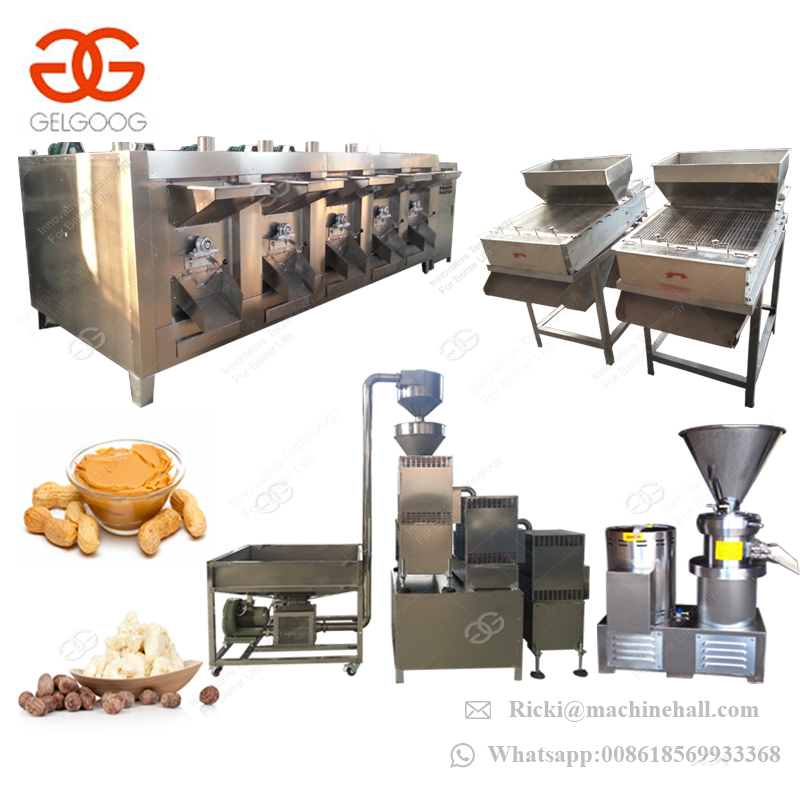 Commercial Small Scale Groundnut Paste Almond Nut Shea Butter Making Machine Peanut Butter Production Line
