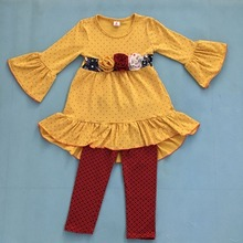 CONICE NINI Brand Long Sleeves Middle Flower Boutique Outfit Children Garment