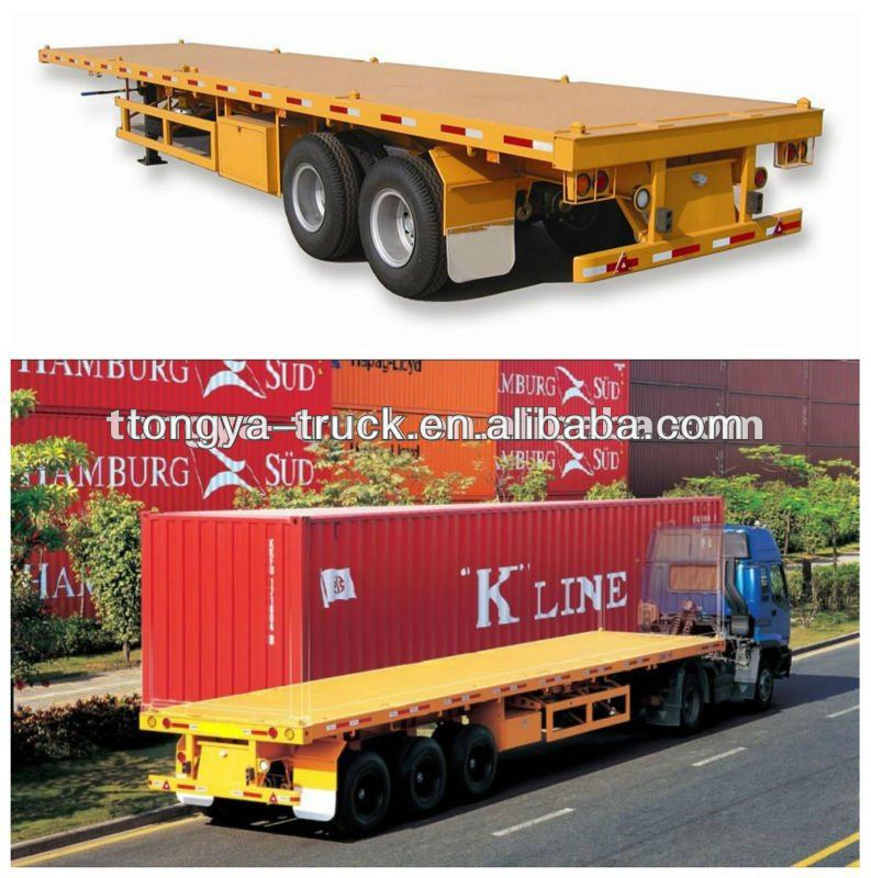 New Cheap Flat Bed Semi Trailers