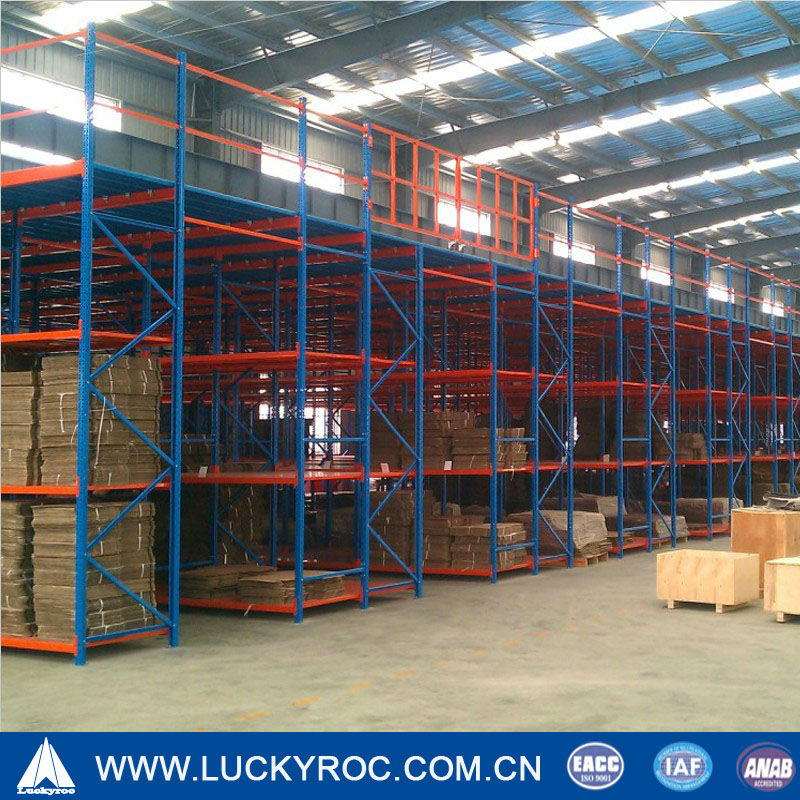 Warehouse platform mezzanine racking
