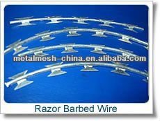 beautiful feature and practicality razor wire fencing 980mm alibaba china