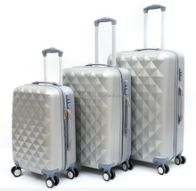 Cheap Diamond Pattern ABS PC suitcase travel luggage set