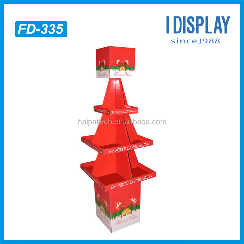 customized Christmas tree cardboard display cardboard display stand for display goods