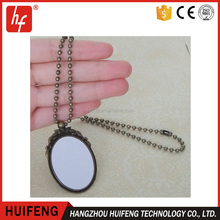 Wholesales promotional customed DIY sublimation blank jewelry necklace pendant