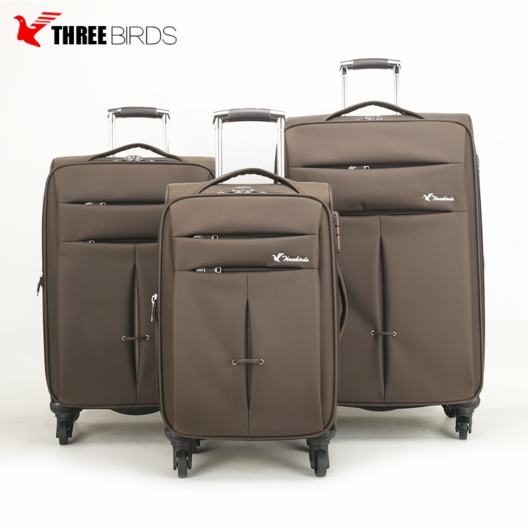 2018 new design aluminum trolley 4 wheels travel funny suitcase