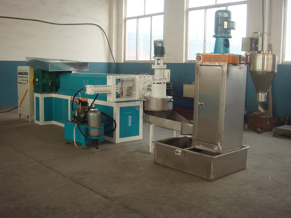Plastic recycling and granulating water ring pelletizing machine