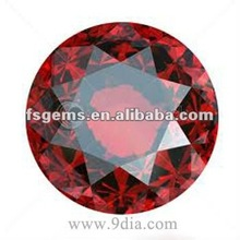 Top quality Natural Red Chinese Garnet Round Cut Loose Gemstone Cheap Price