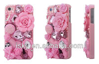 Luxury 3D diamond crystal rhinestone annasui Rose Sharp Bling Rhinestone Diamond Hard Back Phone Case Cover for iPhone 4 4S