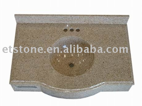 pinck granite bathroom sink countertop