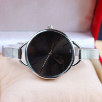 Free sample custom black simple watch silicone strap men wrist watch