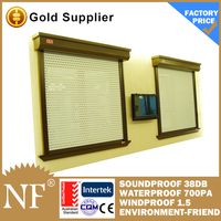 sliding window with exterior electric window shutters