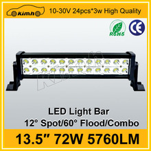 China supplier auto part 72W cheap flexible led light bar