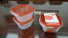 Good selling 2 pcs plastic food storage container 1200ml