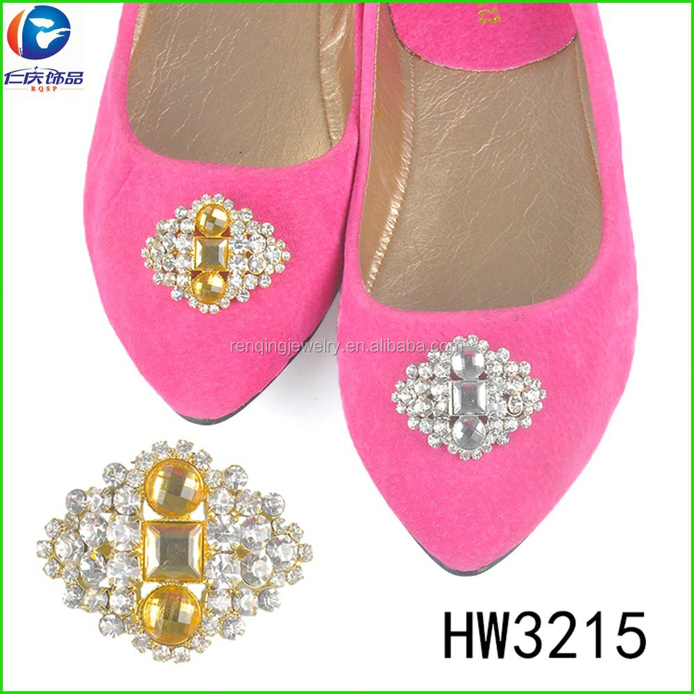 HW3215 crystal diamante rhinestone decorations shoe flower clips moveable boot clips shoe rack accessories