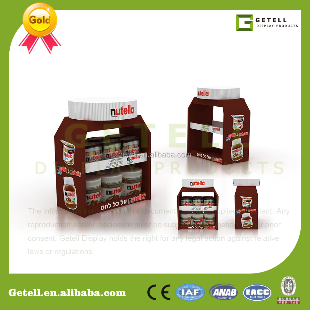 Table top product display - Customized Flat Packaging Cardboard Nutella Choclate Tabletop Box In Supermarket Store Checkstand Display Candy Fmcg Posm Buy Customized Cardboard Nutella