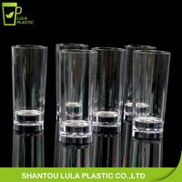 LFGB,FDA,CIQ,CE / EU,SGS,EEC Certification and Drinkware Type 2oz Long plastic mini shot glass