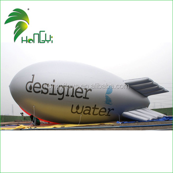 Customized Inflatable Helium Airship , Inflatable Advertising Blimp