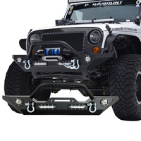 07-16 Jeep Wrangler JK Heavy Duty Rock Crawler Front Bumper with LED Lights offroad bumper
