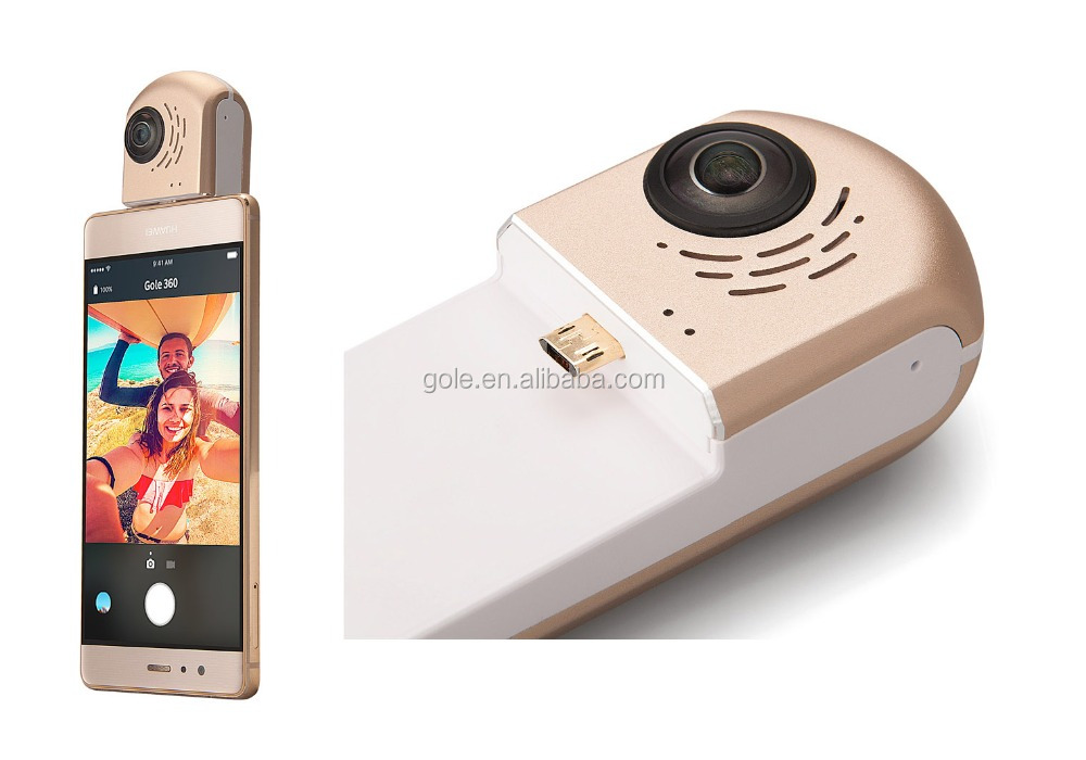 2017 OEM GOLE 360 WIFI Action camera linux 3.10 OS 2.4GHz 800 mAH photo camera for mobile phone