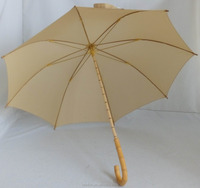 Special design light weight manual open long umbrella with bamboo fabric