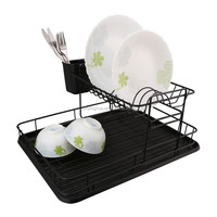 Black Powder Coating Kitchen Accessories Dish Rack