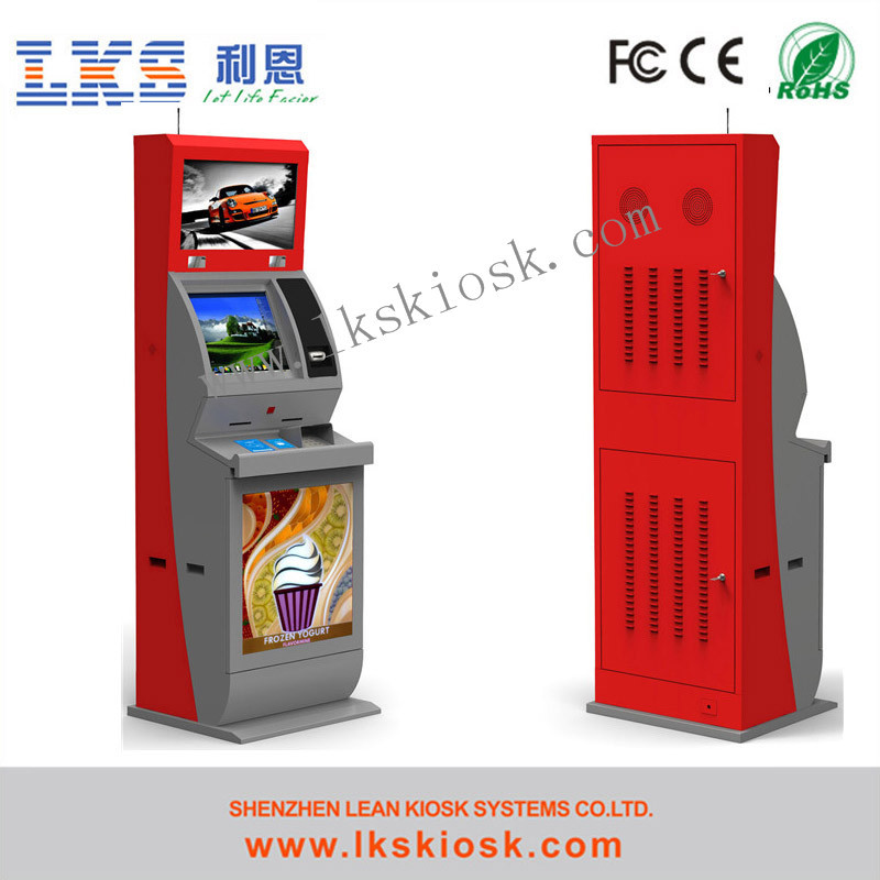 Video Lottery Terminal with touch screeen and information kiosk