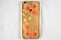 Durable Protective Tpu Dry Flowers Fashion Case For Iphone 6 Mobile Phone Case