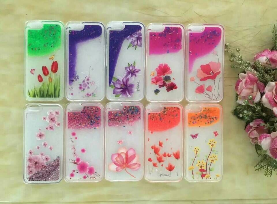 2016 Clear Cellphone Back Cover Case Dynamic Liquid Glitter Sand Quicksand Star for Huawei P8/P8 Lite P8 mini Phone