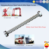 For ship unloaders, container hoisting, cranes at port & coal mine, steel wire rope with multiple structures