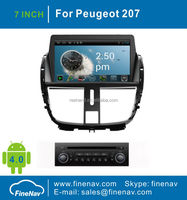 "7"" Android 4.0 Car DVD Player For Peugeot 207 with GPS Navgigation,3G/Wifi ,Bluetooth,Ipod,Free map Support DVR,DVB-T"