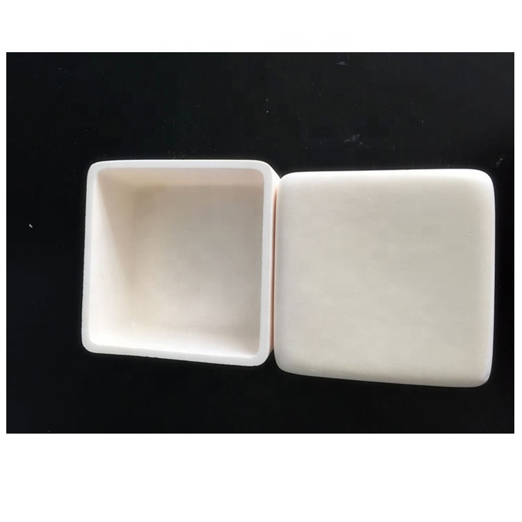Good temperature endurance high pure rectangle alumina ceramic crucible for lab
