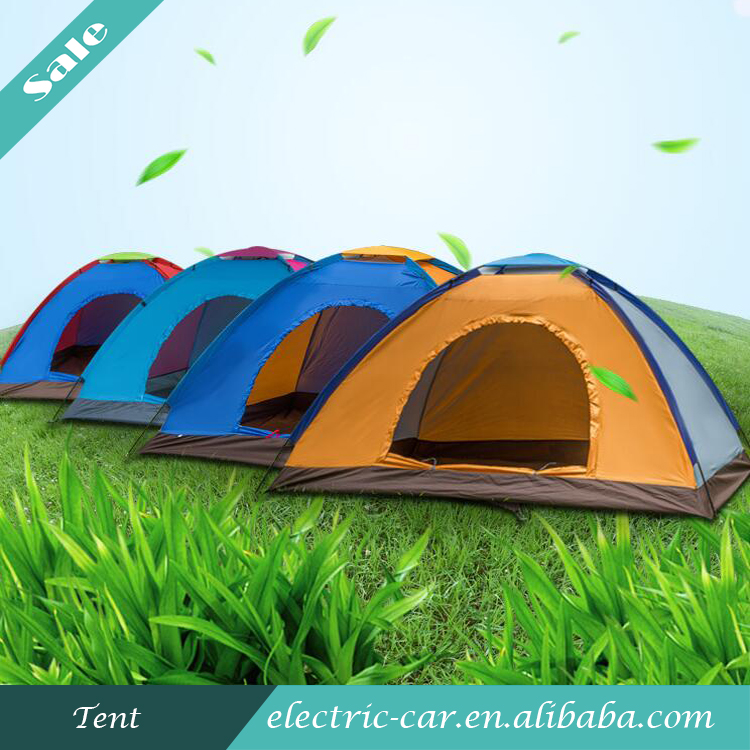 4 Man Polyester Outdoor Waterproof Camping Tent for Travelling