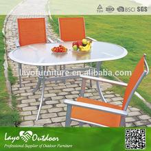 ISO 9001 factory luxury comfortable outdoor furniture 4 seat dining table and chairs