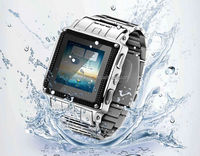 2014 Bluetooth Touch Screen stainless steel waterproof wrist watch mobile phone